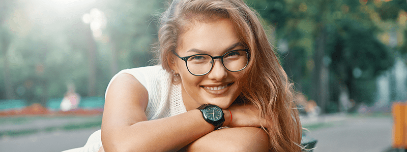 Young Woman Enjos Time
